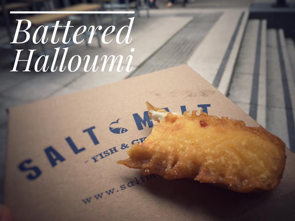 Battered Halloumi, Salt and Malt, Wapping Wharf, Bristol