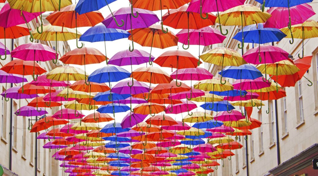Bath, Somerset, Umbrella Project Art Installation
