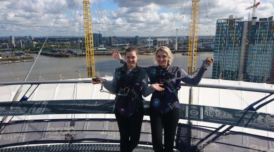 Climbing the O2 Arena in London