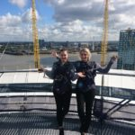 Climbing the O2 Arena in London