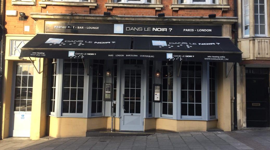 London Restaurant Dans Le Noir