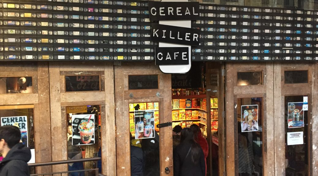 Cereal Killer Cafe in Camden Market London