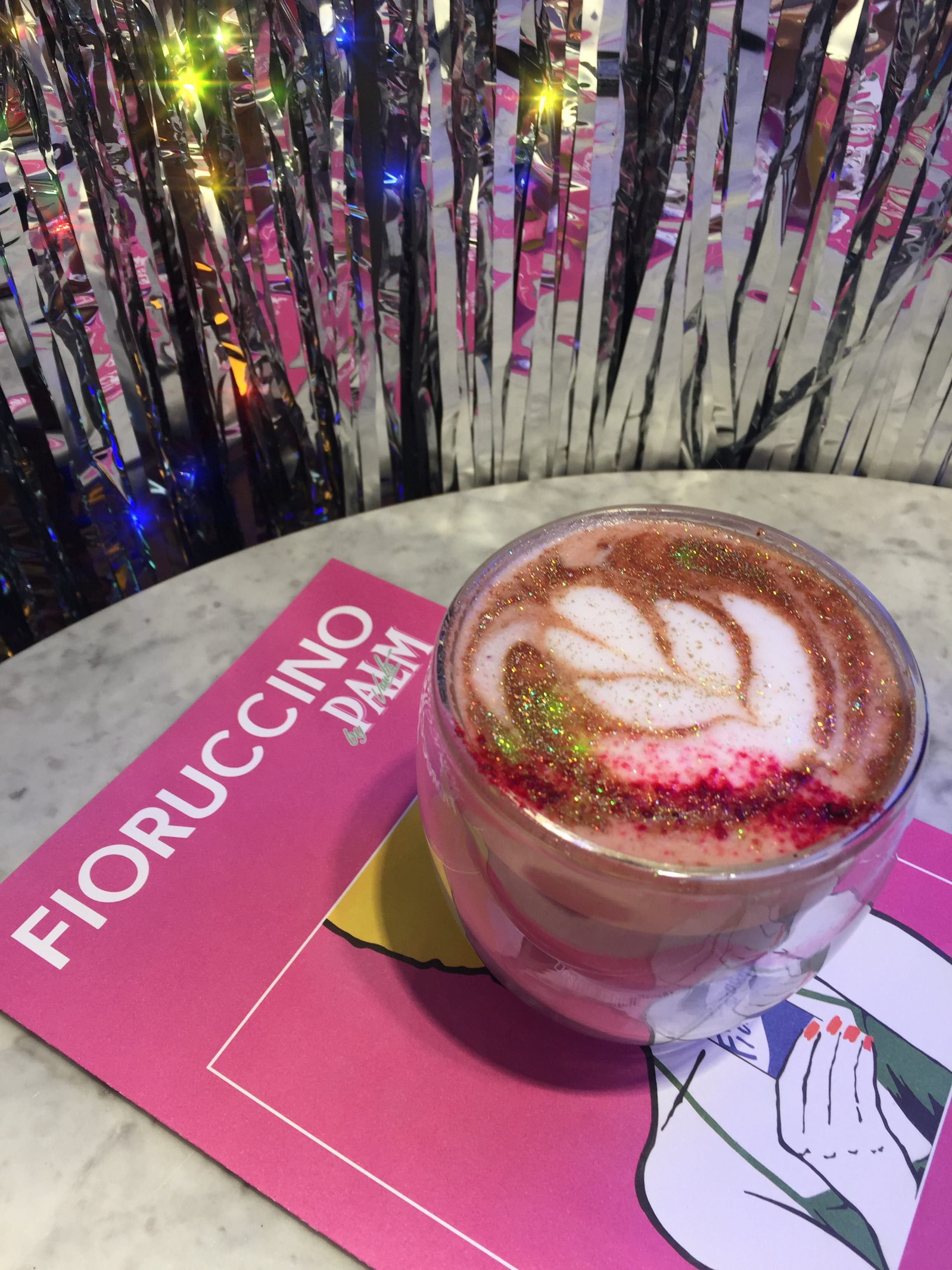 Glitter Coffee at Palm Vaults in London