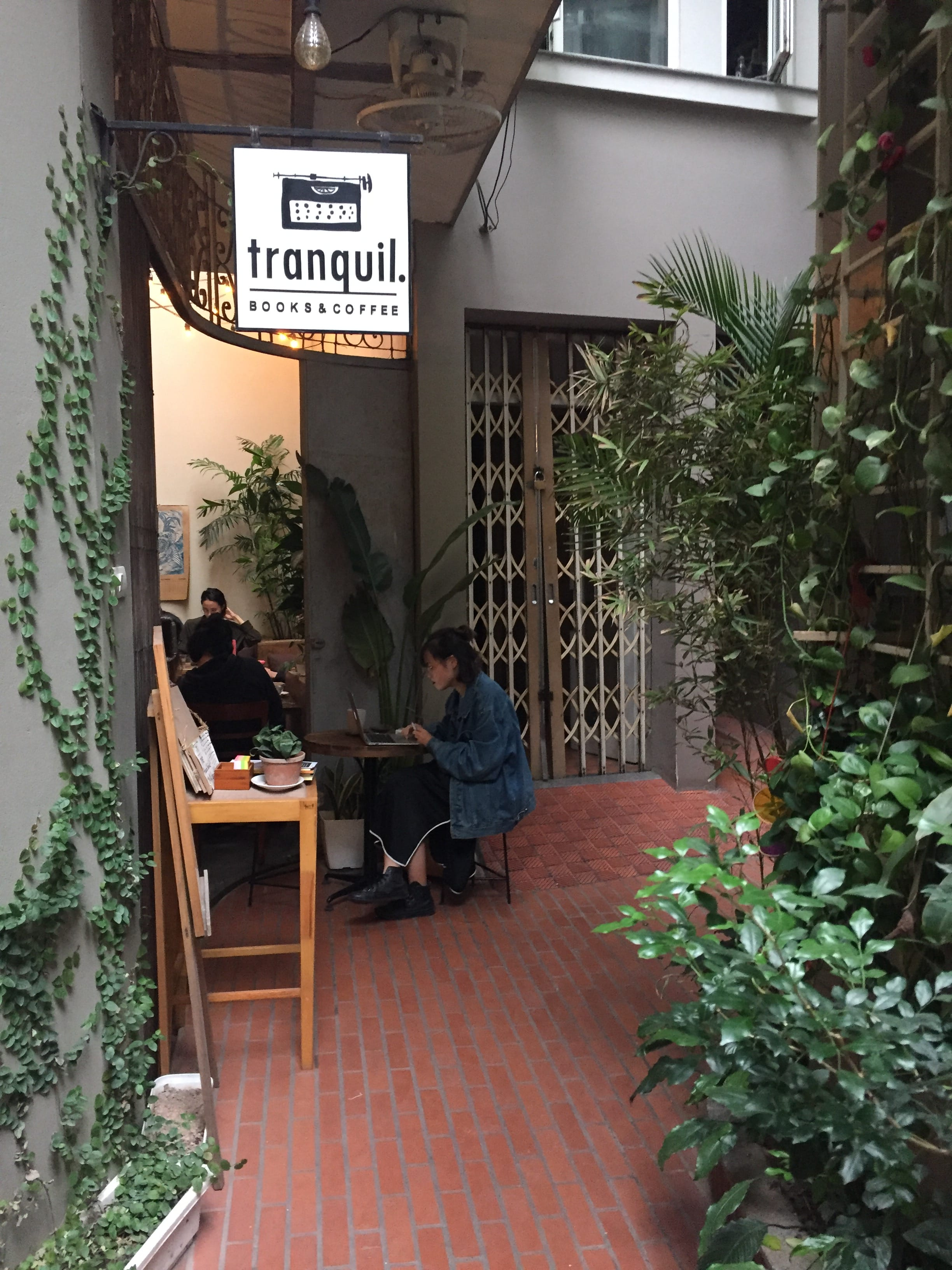 Tranquil Book Cafe in Hanoi Vietnam