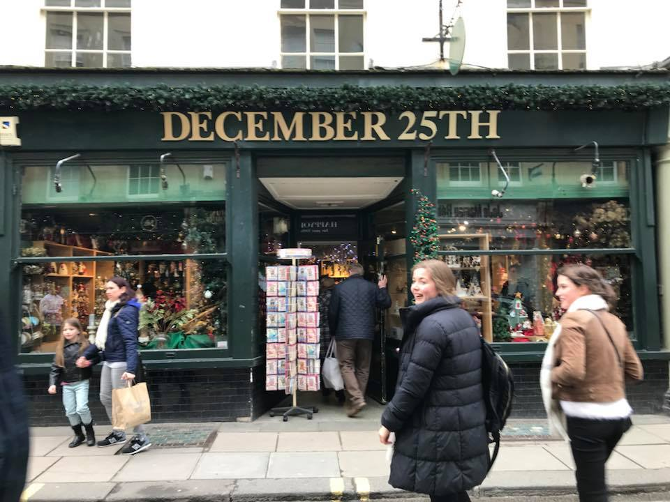 Bath's December 25th Christmas Shop