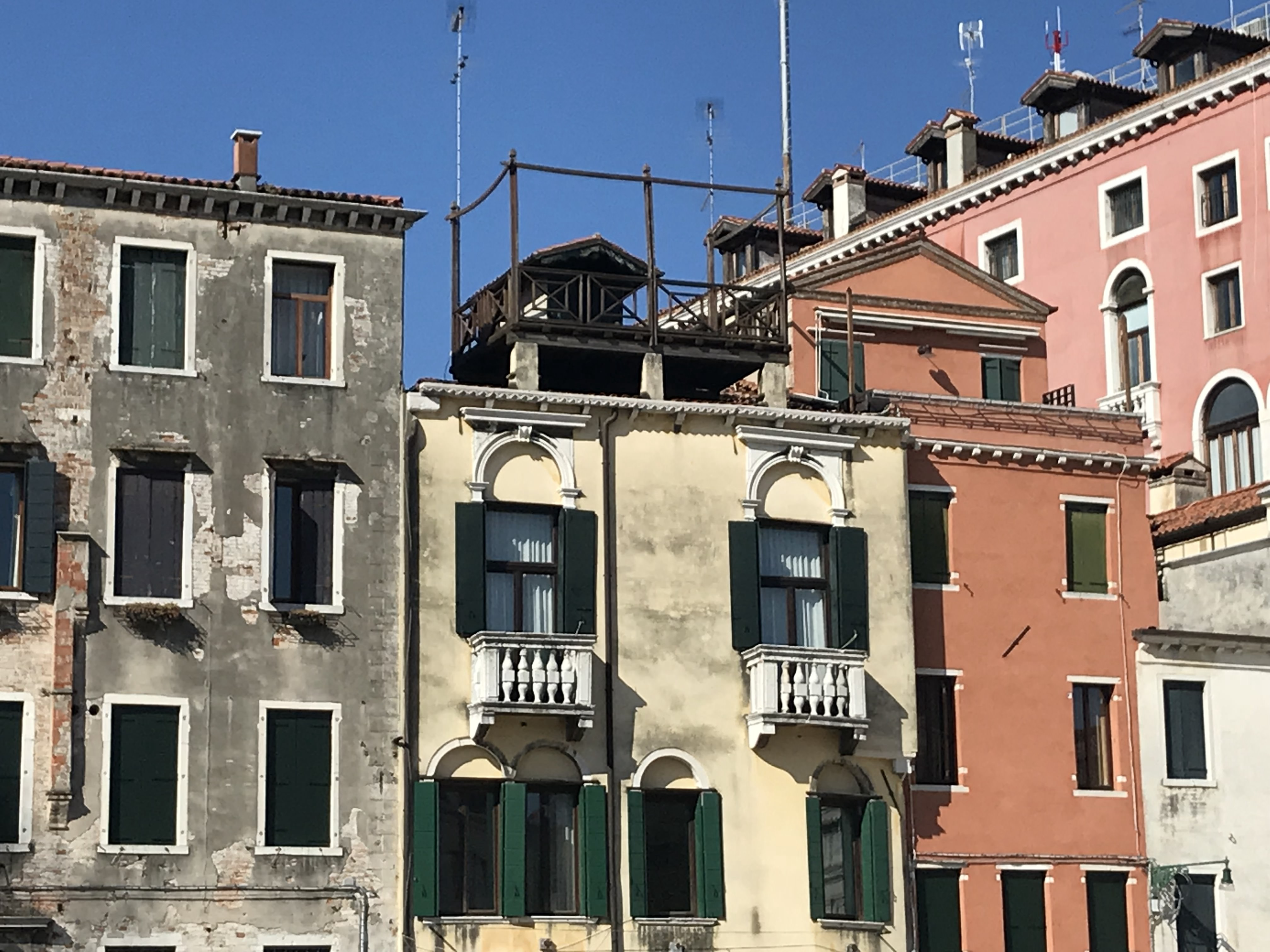 House Structure in Venice. Italy Itinerary