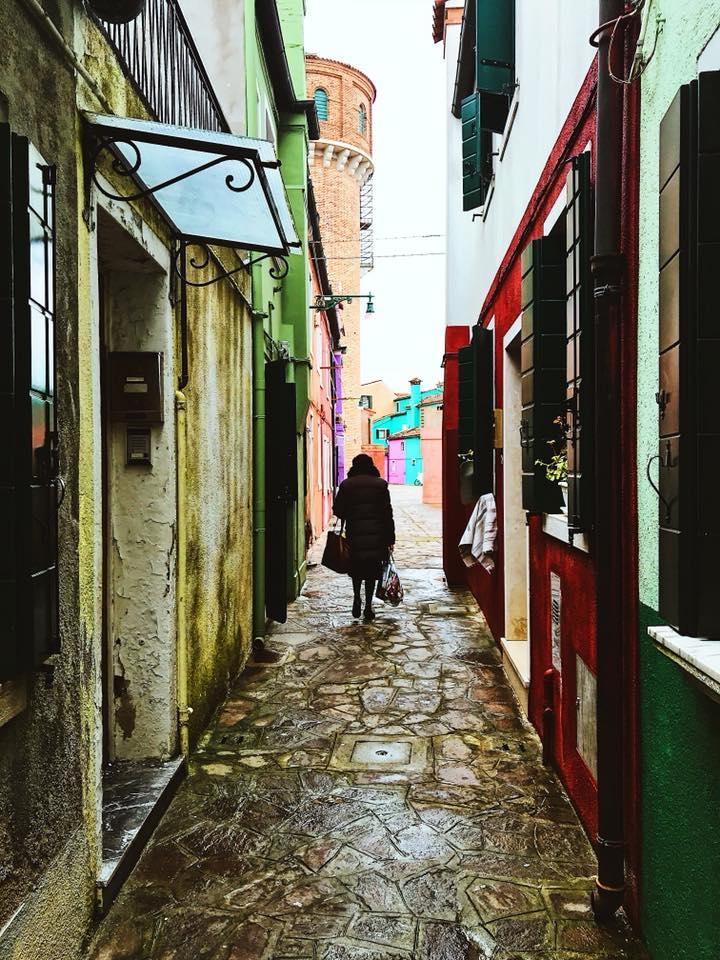 Alleys in Burano Venice