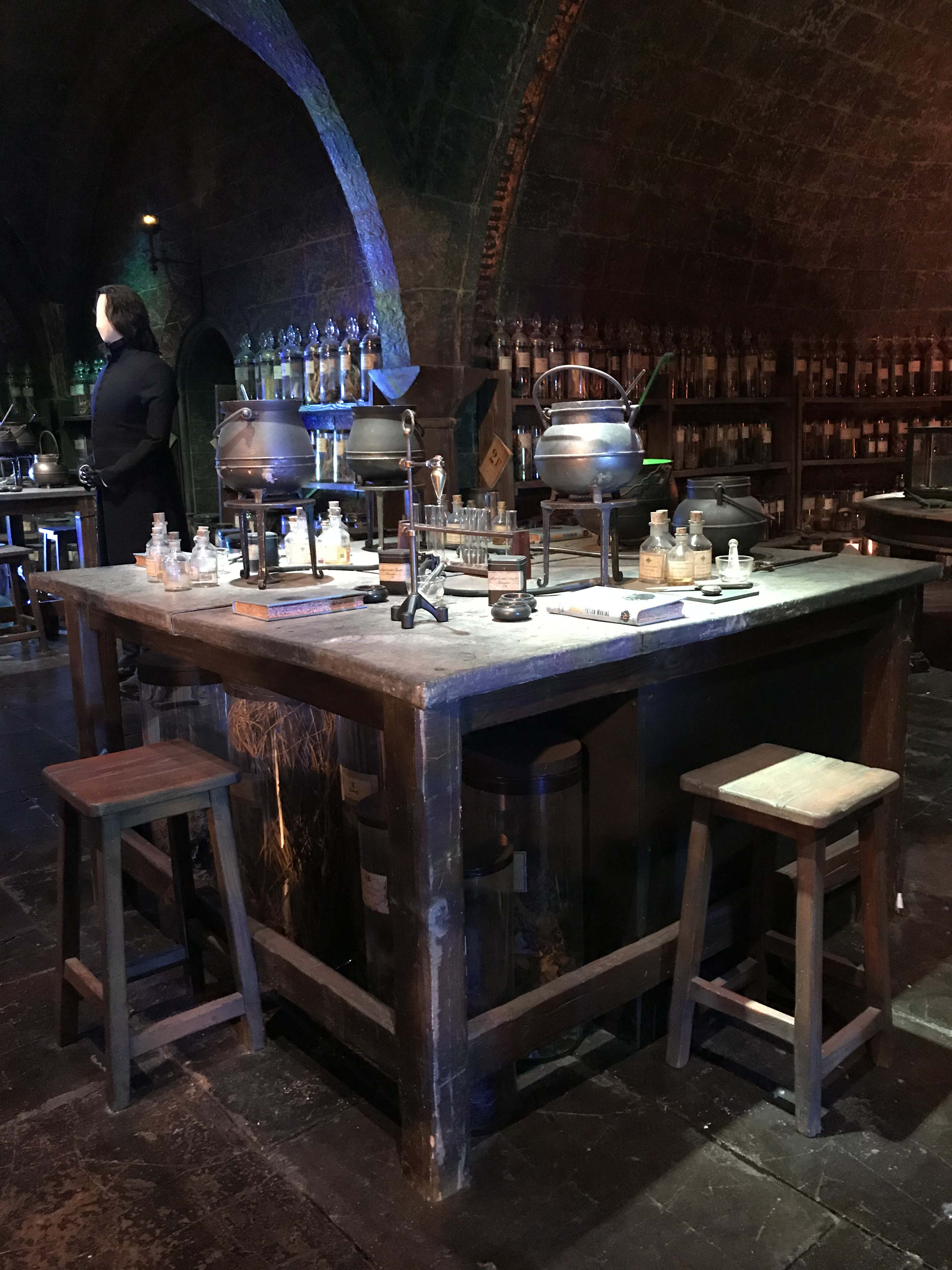 Harry Potter Studio Tour Dart rts Classroom