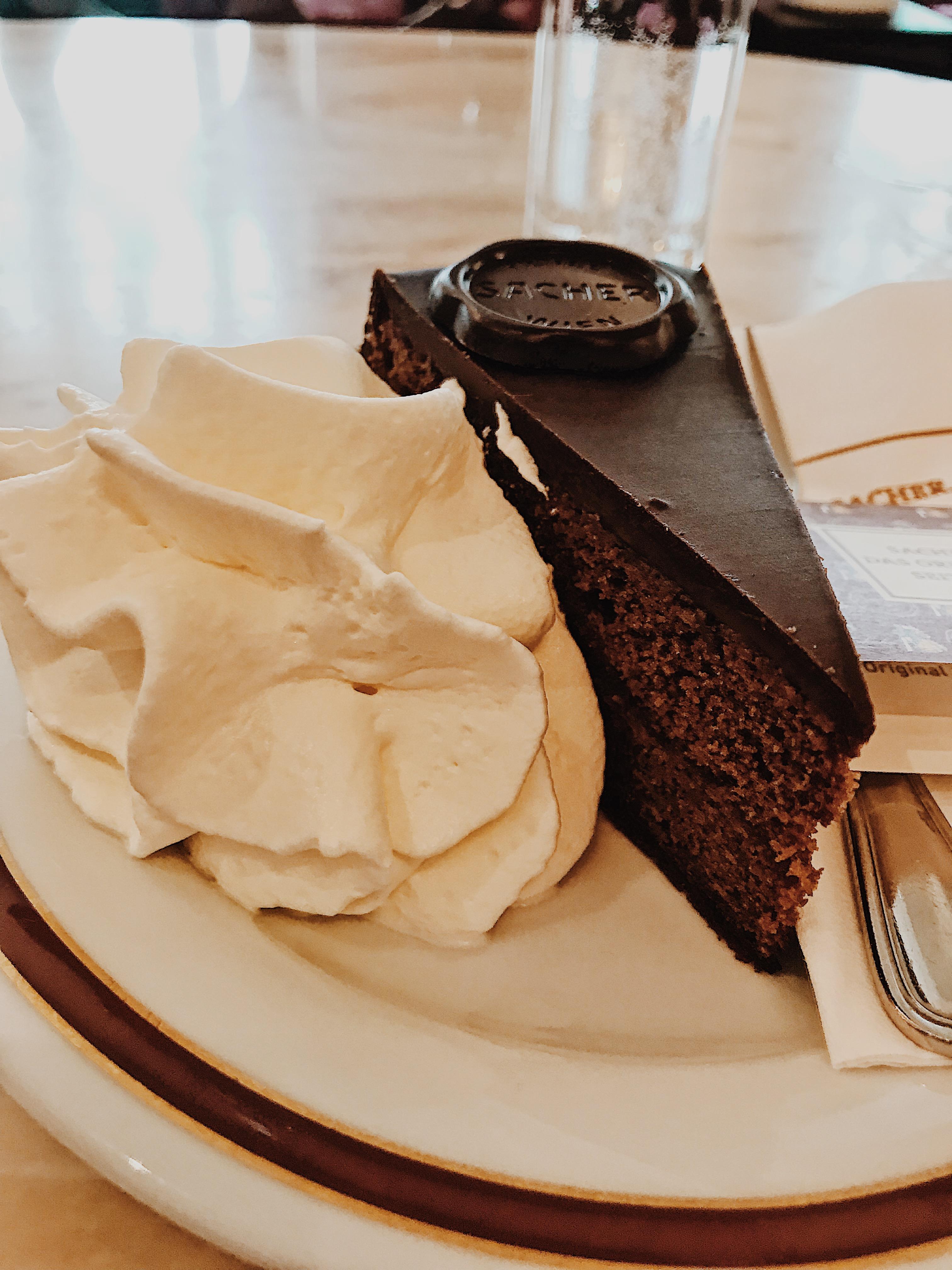 The Original Sacher Torte in Salzburg's Sacher Cafe