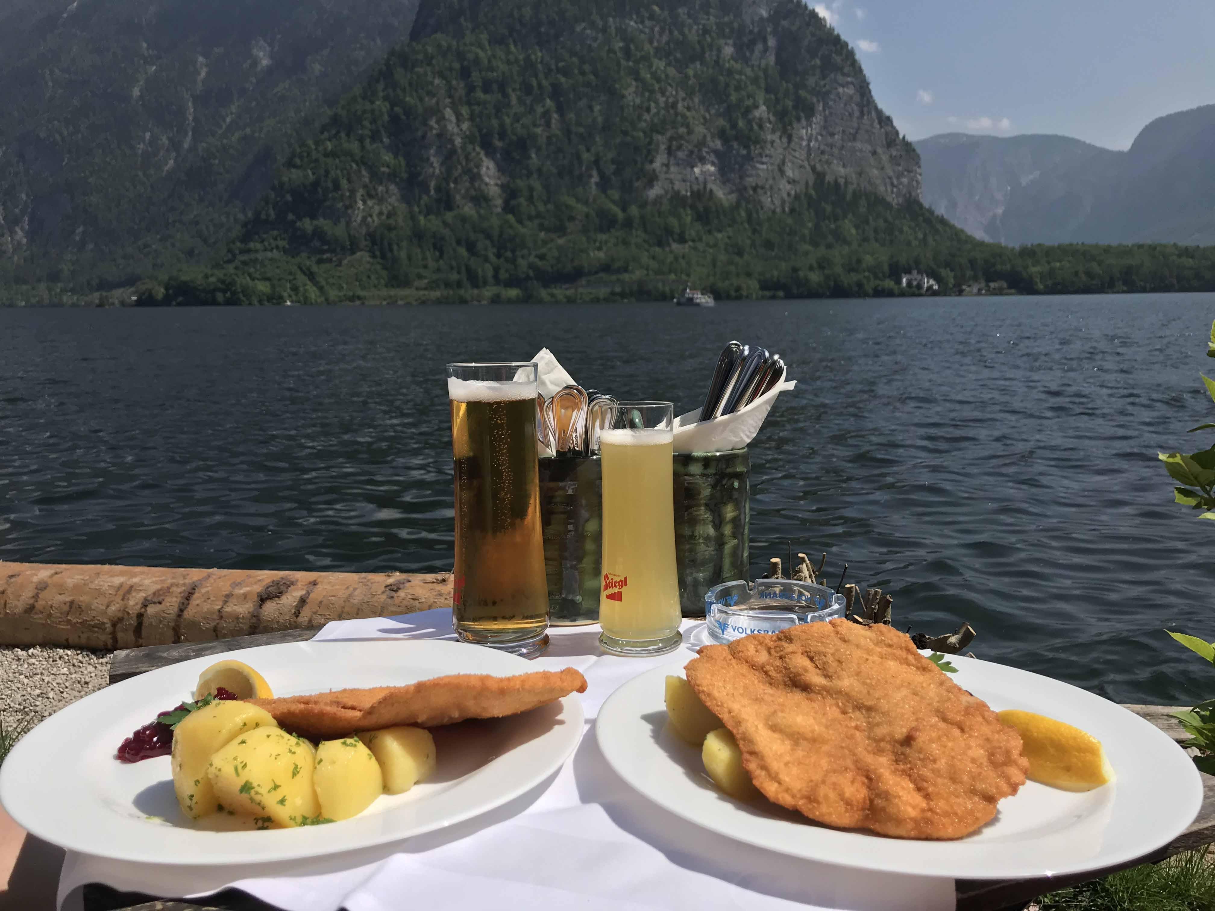 Lake Lunch in Hallstatt Austria