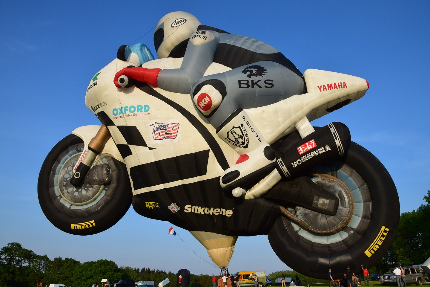 The Lindstrand Superbike Hot Air Balloon.