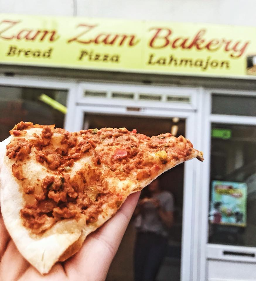 Lahmajoun at Zam Zam Bakery in Easton