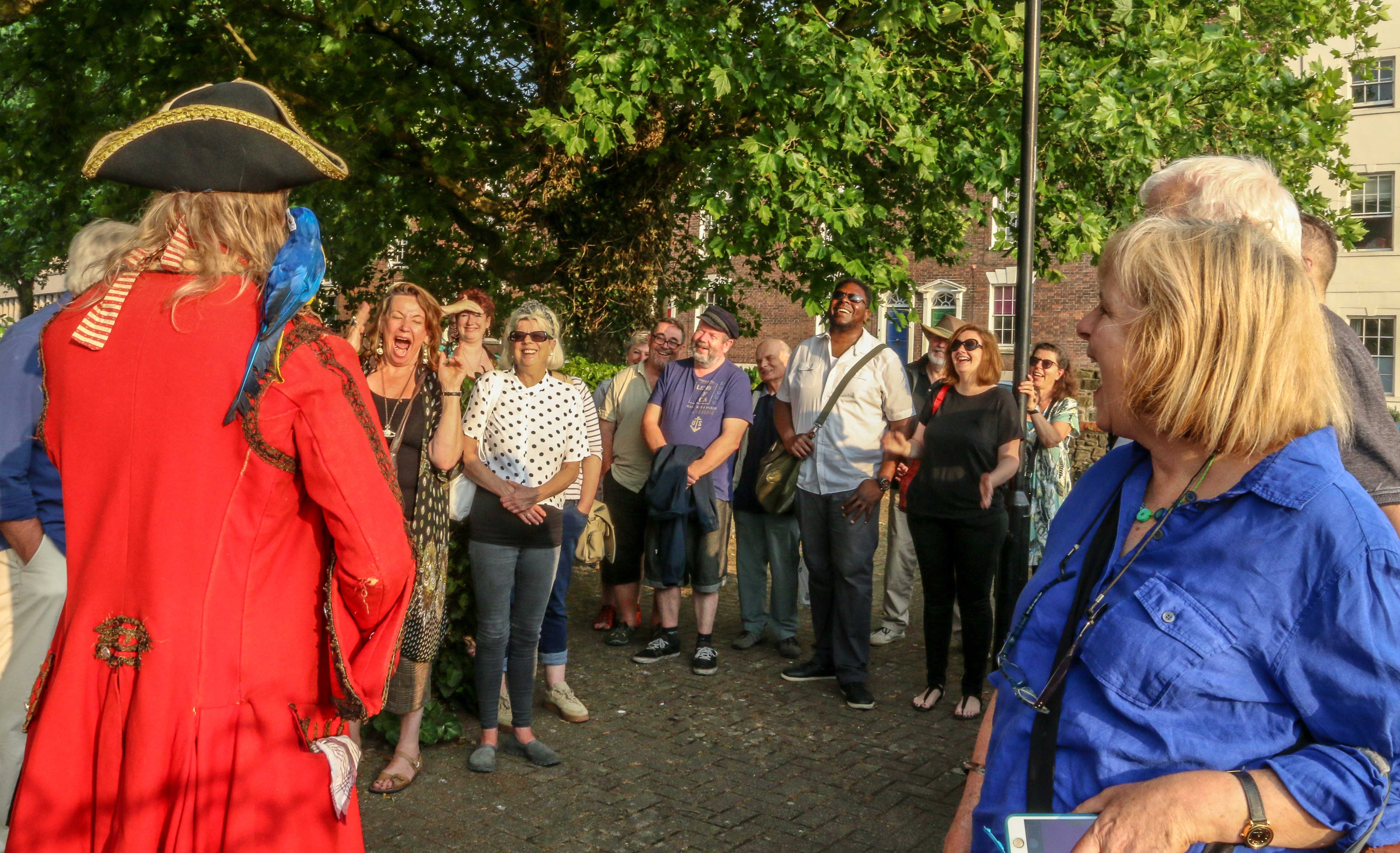 Actor Gerard Cooke playing the part on the Bristol Walking Tour by ©Zuleika Henry