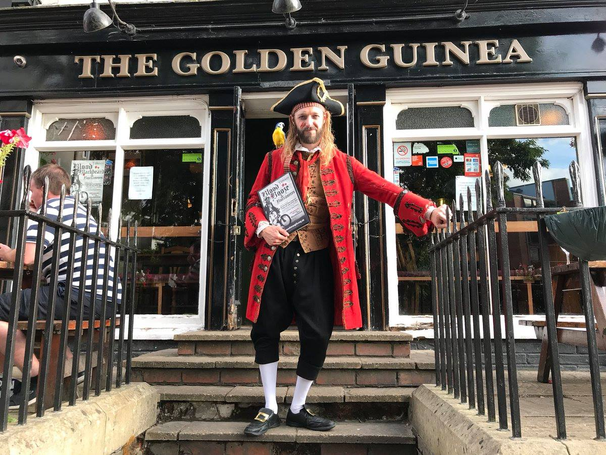 Actor Gerard Cooke outside Golden Guinea ahead of the Bristol Walking Tour